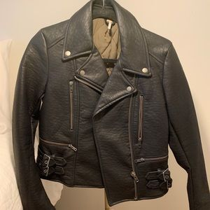 Free people leather jacket size 4 never worn
